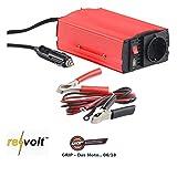 reVolt Spannungswandler 12V: Kfz-Spannungswandler 300 W, 230 V AC, 5 V USB, Peakpower 600 W (Spannungswandler 12V 230V)