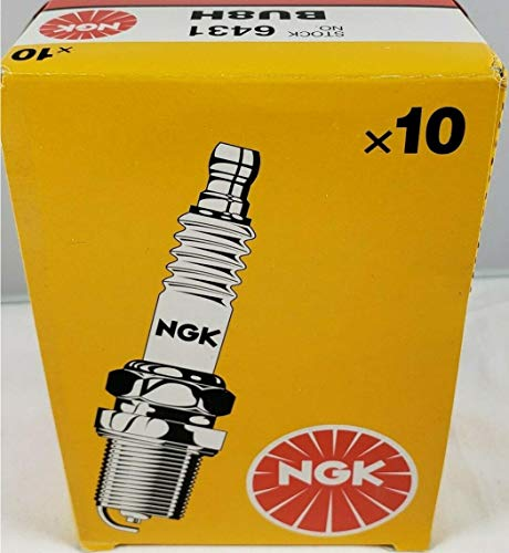 Set (10pcs) NGK Standard Spark Plugs Stock 6431 Nickel Core Tip Surface Discharge Type 0.016in BU8H