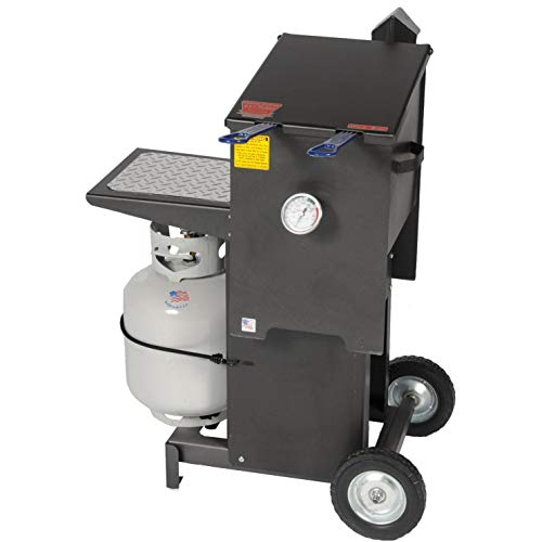 R & V Works Cajun Fryer 6 Gallon Propane Gas Deep Fryer with Stand and 2 Baskets
