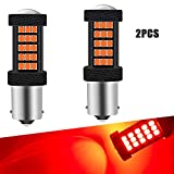 2 Unids Rojo 1156 BA15S P21W Coche Bombillas de luz LED Canbus 63 SMD 2835 Luz de marcha atrás muy brillante Luz de estacionamiento Freno Luces antiniebla traseras Posición Luz de cola 12V