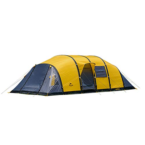 IMBM Outdoor Camping Four-room One-living Wormhole Inflatable Tent 6-8-10 People Multi-person Family Big Tent(Color:blue)