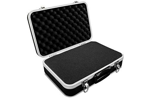 GORANDO® Universal Transport-Koffer mit Schaumstoff Polsterung & Würfelschaum für Kamera, Foto oder Mess-Equipment - Solides Hülle aus ABS Kunststoff