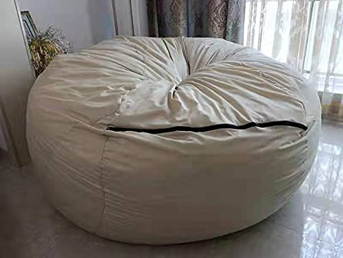 Funda de forro interior for bolsa de frijoles (sin relleno), forro interior de 6 7 pies for bolsa de frijoles, funda for sofá, silla, asiento, sofá perezoso, funda de repuesto de alta capacidad
