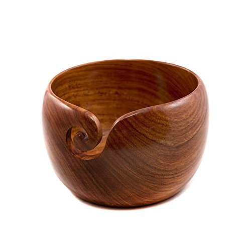 darn good yarn handcrafted wooden yarn bowl