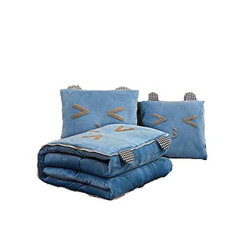 Gemütlich Kissen Quadrat Multifunktionskissen Quilt Büro Mittagspause Decke Auto Sofa Klimaanlage Zurück Sanft (Color : E, Size : S)
