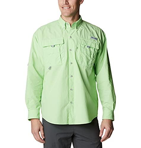 Columbia Tall BahamaTM II L/S Camisa para Hombre, Hombre, Camiseta Bahama II L/S, 101162, Brillo de Lima, 1 Unidad