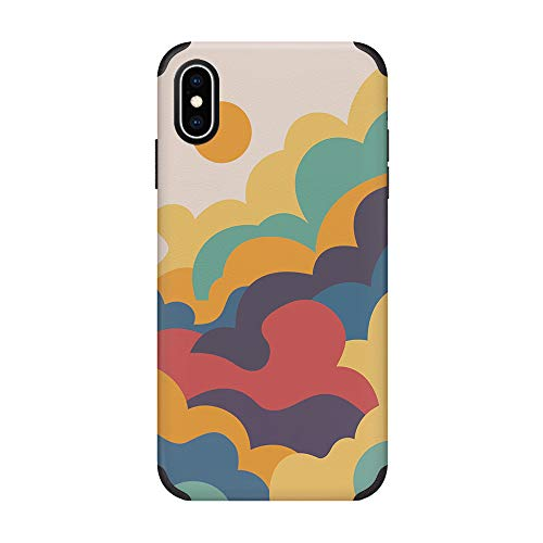 CUSTYPE iPhone X Case iPhone Xs Case Watercolor Pattern Soft Slim Anti-Slip Shockproof Protective Cover Case for iPhone X/Xs 5.8 inch Clouds