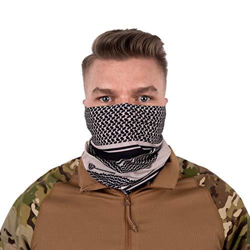 Terra Kuda Face Clothing Neck Gaiter Mask – Non Slip Light Breathable for Sun Wind Dust Bandana Balaclava (Shemagh Tan)