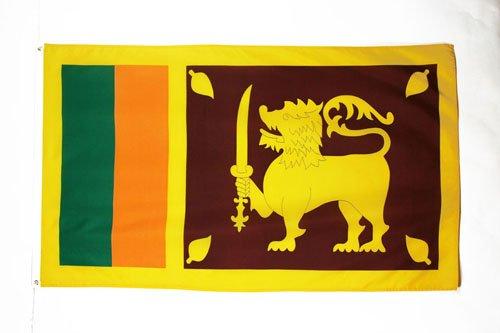 AZ FLAG Flagge SRI Lanka 150x90cm - DEMOKRATISCHE SOZIALISTISCHE Republik SRI Lanka Fahne 90 x 150 cm - flaggen Top Qualität
