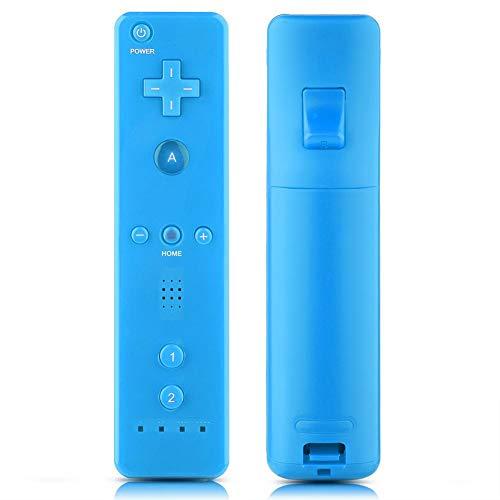VBESTLIFE Game Handle Controller Gamepad con Joystick analogico, Rubber Cover, per Nintendo WiiU/Wii Console(Blu)