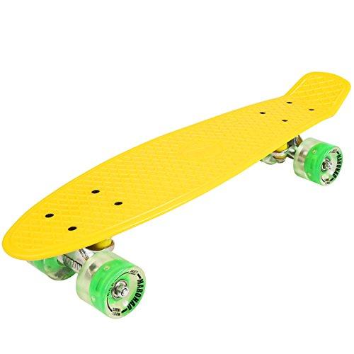 Skateboard mini cruiser, in stile retr con LED sulle ruote e carrelli in...