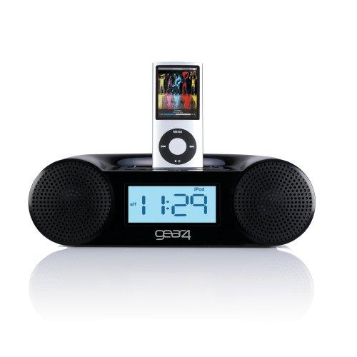 Gear4 CRG-60 Radiowecker (UKW-Tuner, Apple iPod-Dock) schwarz