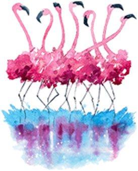 Divine Designs Pretty Paint Splatter Flamingo Art Vinyl Decal Sticker (4' Tall)