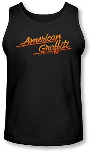 American Grafitti - - Neon Logo Tank-Top pour hommes, Large, Black