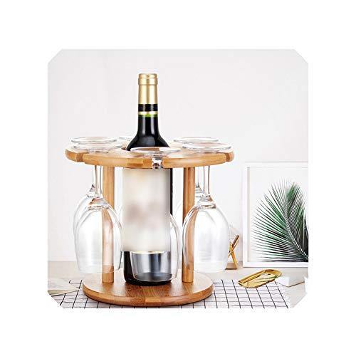Wine Glass Drying Rack Bamboo Storage Shelf Bottle Holder Office Home Kitchen Supplies