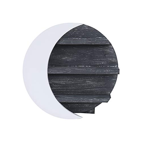 IanisDecor Crystal Crescent Moon Shelf - Rustic Wall Shelf Moon Decor for Bedroom,Living Room.Moon Phase Wall Hanging Perfect for Moon Nursery Decor,Wooden Essential Oil Shelf or Witchy Room Decor