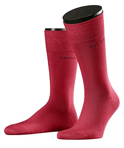 ESPRIT Herren Basic Uni 2-pack M So Socken, Blickdicht, Rot (Red Pepper 8074), 43-46 (2er Pack)