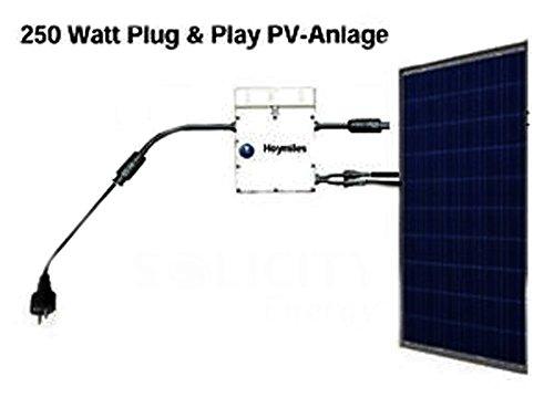250 Watt Solaranlage (Photovoltaikanlage) Plug & Play für den Eigenverbrauch. Einspeisung, direkt in die Steckdose.