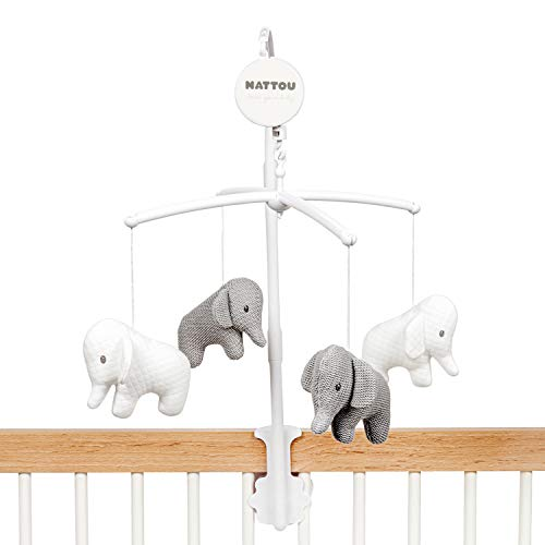 Nattou Móvil Musical con Elefantes, Tembo, Dulce canción de cuna