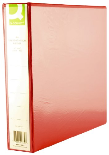 Q Connect A4 40mm Presentation 4d-Ring Binder - Red
