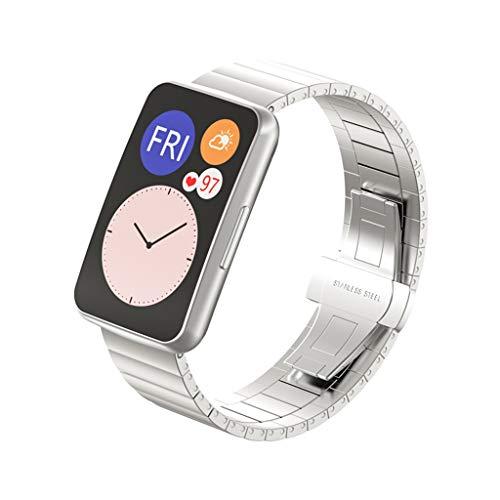 Shenxay Correa de acero inoxidable para reloj Huawei