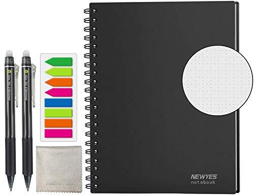 HOMESTEC スマートノート A4サイズ 無限ノート 消せる手帳 デジタル メモ ルーズリーフ おもしろ 文房具 無限に使えるノート (ドット罫)