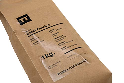 Cafeïnevrije koffie Koffiebonen 1kg 100% Arabica - Espresso - Decaf Premium - Tusell Tostadores