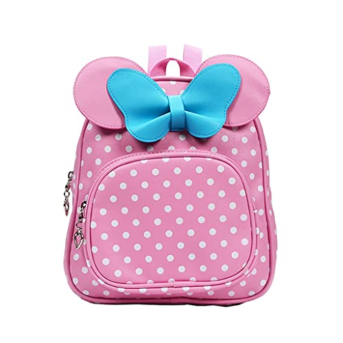 WXYPP Bowknot Toddler Schoolbag Cute Mochila Moda Bebé Mochila Mini- (Color : Pink, Size : L)