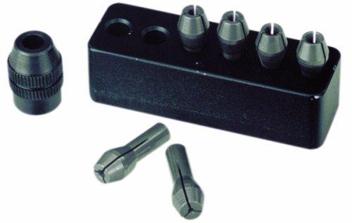 Proxxon 28940 MICROMOT Stahlspannzangensatz 6teilig 1-3,2mm mit Halter