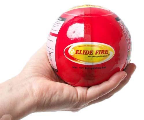 自動消火 ELIDE FIRE BALL エライドファイヤーボール 消火器補助 小サイズ 消火ボール