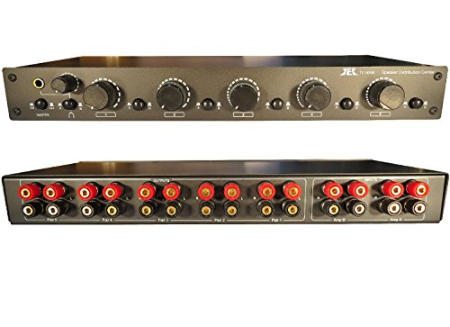 2x5 Speaker Selector Switch Switcher Volume Control, Commercial Grade