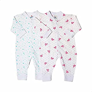 Papillon Bow and Star Pattern Long Sleeves Bodysuit Set for Girls