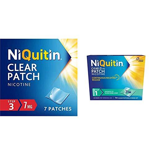 NiQuitin Nicotine Patches & Mini Mint Lozenge Bundle - NiQuitin's Step 1 21 mg Clear Nicotine Patch & 4 mg Mini Mint Lozenge - Stop Smoking Aids