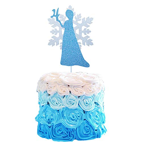 Frozen Cake Topper, Frozen 4 Cake Toppers, Frozen Cake Toppers 4, Princess Cake Topper, 4th Birthday Party Cake Toppers, Frozen Birthday Party Decorations