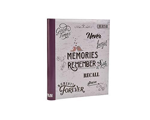 ARPAN Fotoalbum, selbstklebend, für Verschiedene Bilder bis DIN A4, 20 Blatt, 40 Seiten, Memories Purple, W28 Size L33.5 cm x H2.5 cm