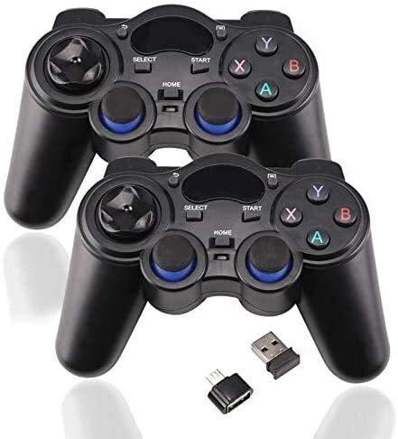 Dujie Gamepad sans Fil Bluetooth Moblie Gamepad Manette de Jeu contrôleur for hôte avec 6 Axes poignée de Jeu QPLNTCQ (Couleur: 1pc, Taille: 1) ( Color : 2pcs , Size : 1 )