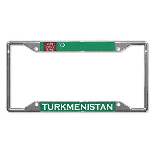 Türkmenistanische Flagge, Metall, für Nummernschild, 4 Löcher, perfekt für Männer und Frauen, Auto-Garadge Dekor