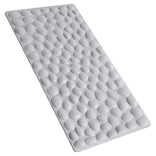 OTHWAY Non-Slip Bathtub Mat Soft Rubber Bathroom Bathmat with Strong Suction Cups (Grey)