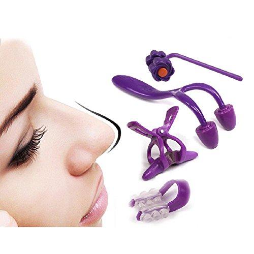 Preisvergleich Produktbild 4 Stück Nase Shaping Beauty Kit Magie Nase,  Shaping Shapper Lifting + Brücke Aufrichtung Schönheit Clip ,  pink 4 piece set