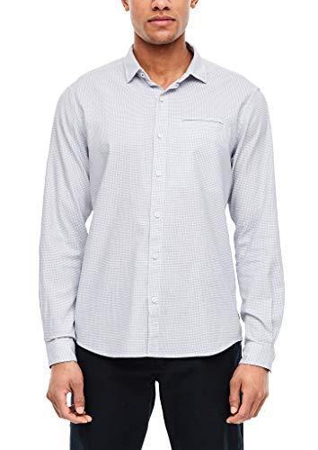 s.Oliver Herren 13.002.21.6855 Freizeithemd, White Check, Large (Herstellergröße:L)