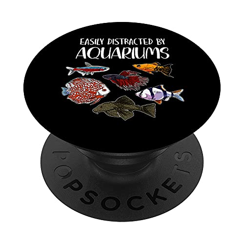 Aquarist Fish Tank & Fish Keeping Gift - Aquarium Lover PopSockets Swappable PopGrip