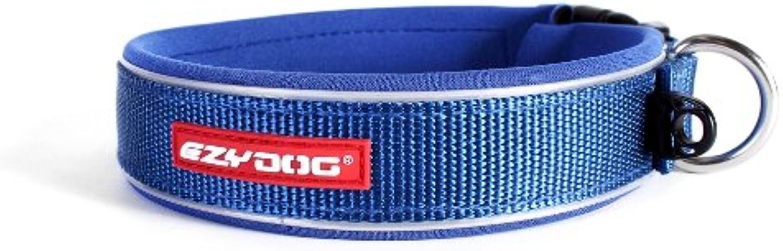 EzyDog Neo Dog Collar, Medium, bluee