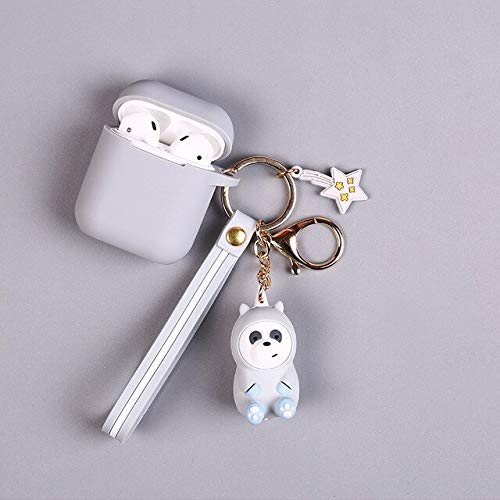 BYBDYSK Sleutelhanger Mode We Bare Bears Anime Grizzly Pvc Sleutelhanger Lanyard Sleutelhanger Kostuum Hangers Accessoire Ornament Decor Sleutelhanger