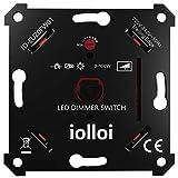 iolloi LED-Dimmer-Schalter, Unterputz Drehdimmer für Dimmbare LEDs und Halogen 3–100 W, Ohne Klemmkrallen, weiß, 3 Jahre Garantie