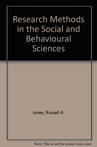 Research methods in the social and behavioral sciences