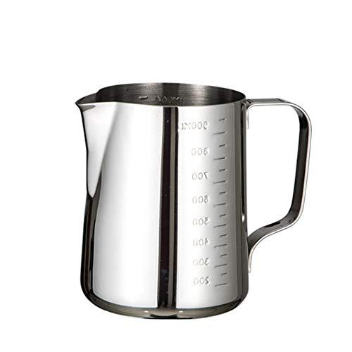 gfjfghfjfh Edelstahl-Messbecher mit Kennzeichnung Rust Stahl Pull-Cup mit Skala Kaffee Pull Blumen Zylinder Milchschaum Cup