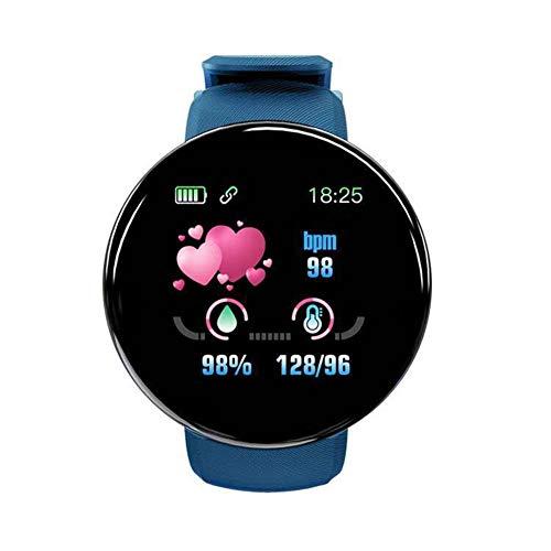 1.3 Pulgadas De Oxígeno En Sangre Reloj Inteligente Hombres Y Mujeres del Reloj Inteligente De La Presión Arterial Monitorización del Ritmo Cardiaco Reloj Miran IP67 Impermeable De Los Deportes,Azul