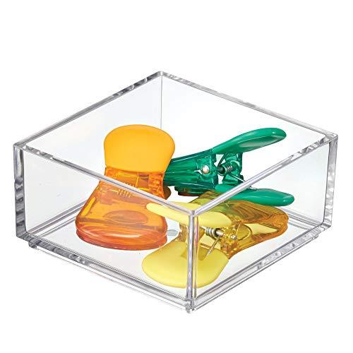 iDesign Portaposate cassetto, Separatore cassetti in plastica di dimensioni extra compatte, Organizer cassetti ideale per posate e altri utensili da cucina, trasparente
