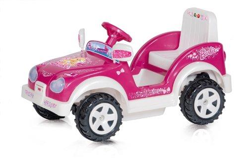 MGM - 114203 - Vélo et Véhicule pour Enfant - Porteur - BTE /Auto Lovely Dream FX - Barbie - 6 Volt - 94 x 56 x 48 cm