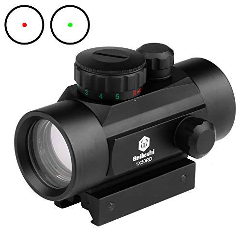 Beileshi 1x30 Red/Green Dot Sight with Integral Picatinny...